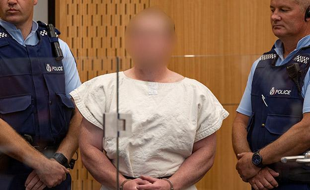 ברנטון טרנט בבית המשפט (צילום: רויטרס, חדשות)
