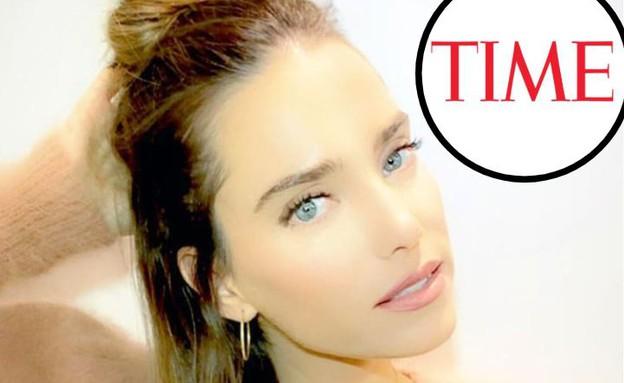 רותם סלע במגזין טיים (צילום: מתוך עמוד האינסטגרם של רותם סלע, לוגו מגזין טיים)