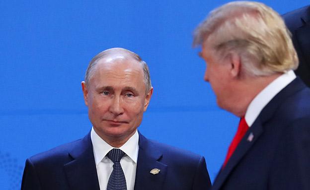 פוטין ודובריו נגד טראמפ (צילום: רויטרס, חדשות)