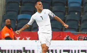 ערן זהבי במשחק נגד אוסטריה (צילום: ספורט 5)