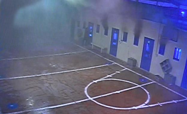 """עימותים בכלא נפחא (צילום: באדיבות דוברות שב""""ס, חדשות)"""