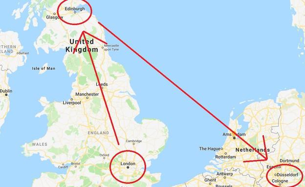 טעות בטיסה (צילום: גוגל מפות)
