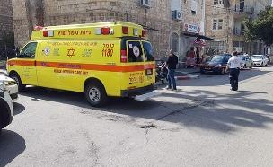 """זירת הירי בחיפה (צילום: תיעוד מבצעי מד""""א, חדשות)"""