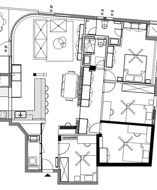 דירה בשכונת המשתלה,עיצוב מיכל גוריון ודקלה וטורי,תוכנית אחרי שיפוץ