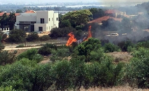 שרפה בנתיב העשרה (ארכיון) (צילום: בן זיו, חדשות)
