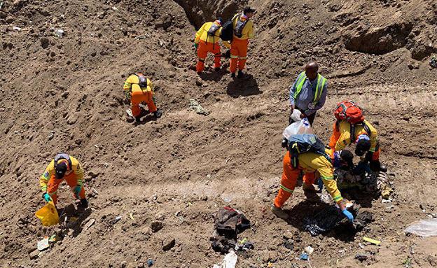 """משלחת החילוץ של זק""""א באתר ההתרסקות (צילום: דוברות זק""""א, חדשות)"""