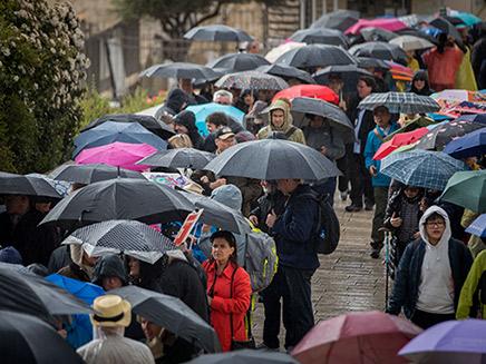 גשם, מטריה בירושלים