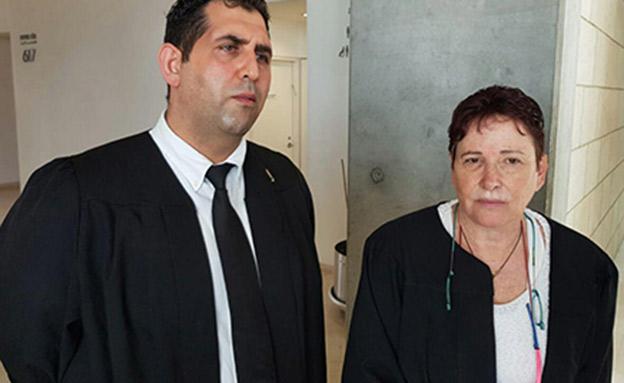 """עו""""ד תמי אולמן ושאדי סרוגי (צילום: החדשות)"""