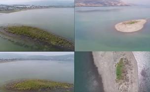 האי של הכנרת (צילום: רחף צילום ותיעוד פרויקטים, רחף צילום פרויקטים מהאוויר)