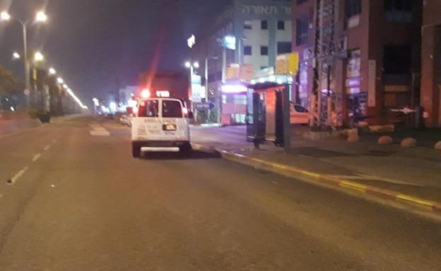 """זירת התאונה בחיפה (צילום: תיעוד מבצעי מד""""א, חדשות)"""