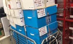 הקלפיות נסגרו וננעלו במחסן, היום (צילום: חדשות)