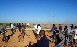 נוכחות דלה של מפגינים (ארכיון) (צילום: צילומים פלסטיניים, חדשות)