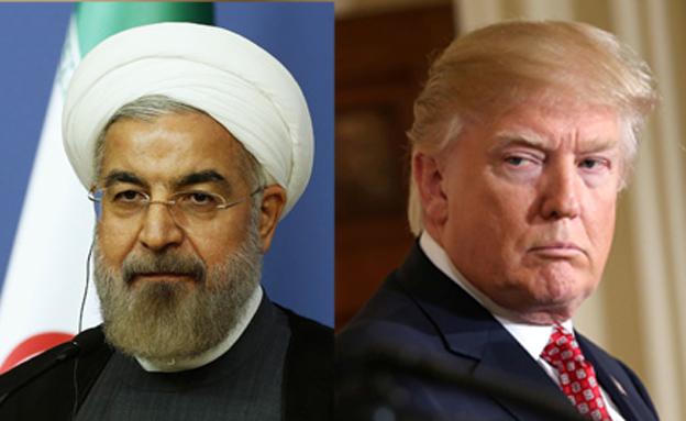 הנשיא טראמפ והנשיא רוחאני (צילום: רויטרס, חדשות)