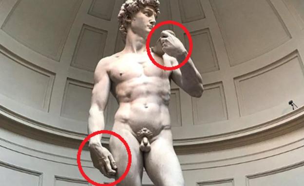 פסל דוד (צילום: אינסטגרם\Galleria Dell'accademia di Firenze)