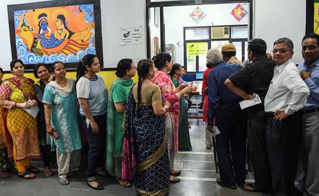 הבחירות בהודו החלו (צילום: CNN, חדשות)