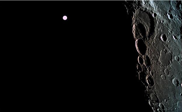 הצד האפל של הירח (צילום: spaceIL, חדשות)