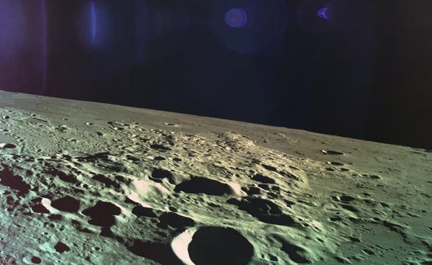 תמונה ראשונה מהירח (צילום: בראשית)