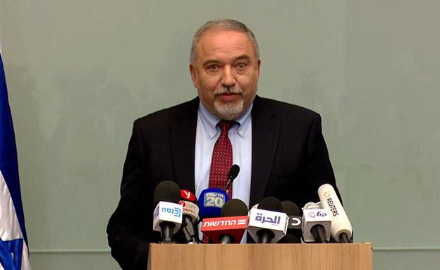 ליברמן מתפטר לפני חצי שנה (צילום: החדשות)