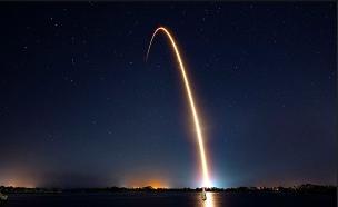 """שיגור החללית הישראלית """"בראשית"""" (צילום: SpaceX, חדשות)"""