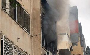 שריפה בחיפה (צילום: כיבוי ואיחוד הצלה, חדשות)