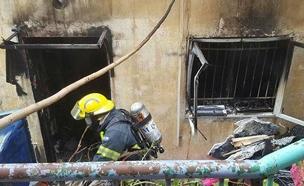 שריפה בדירה בחיפה. ארכיון (צילום: דוברות כבאות והצלה, מחוז חוף, חדשות)