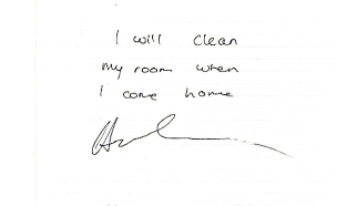 הפתק שכתב דרייק לאמו (צילום: Sky News, חדשות)