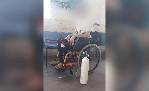 ננטש על ידי קרוב משפחתו בתום טיפול רפואי (צילום: חדשות)