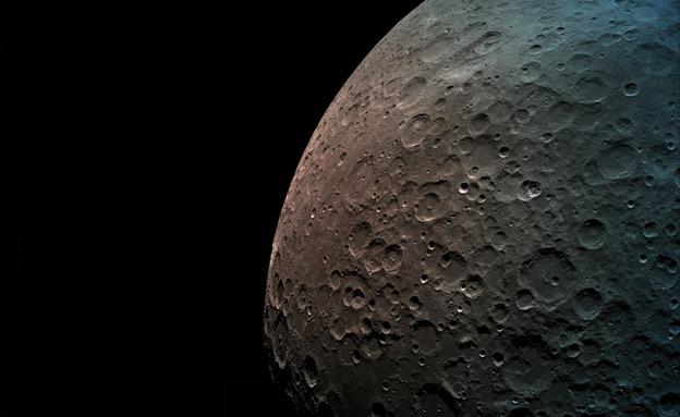 הירח מאחד הצילומים שצילמה החללית (צילום: חדשות)