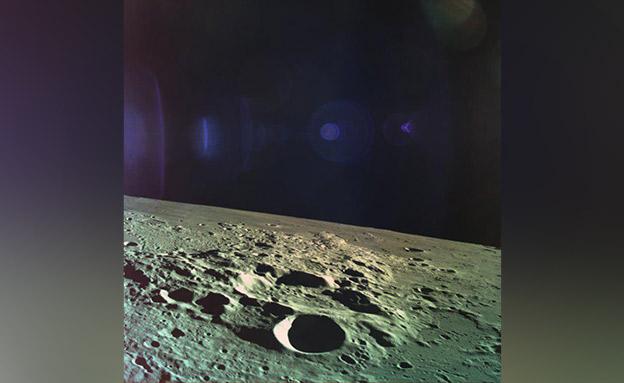 בראשית בדרכה אל הירח (צילום: חללית בראשית, חדשות)