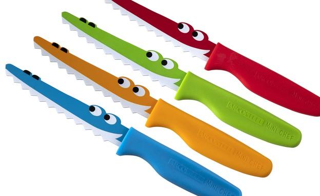 סכין מיני שף צבעונית חדשה לילדים של המותג ARCOSTEE (צילום: יוסי פונס,  יחסי ציבור )