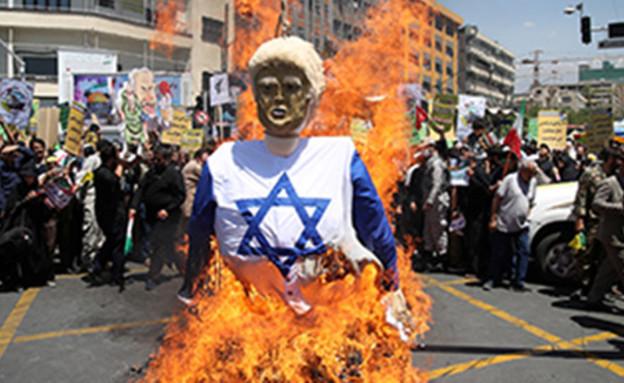 מחאות באירן נגד טראמפ (צילום: רויטרס, חדשות)