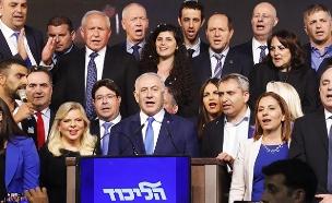 נאום הניצחון של נתניהו (צילום: איתן אלחדז/TPS, חדשות)