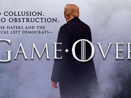 """""""המשחק נגמר"""". הציוץ של טראמפ (צילום: מתוך הטוויטר של דונלד טראמפ, חדשות)"""