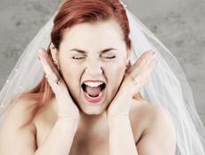 כלה צורחת בחתונה (צילום: kateafter | Shutterstock.com )