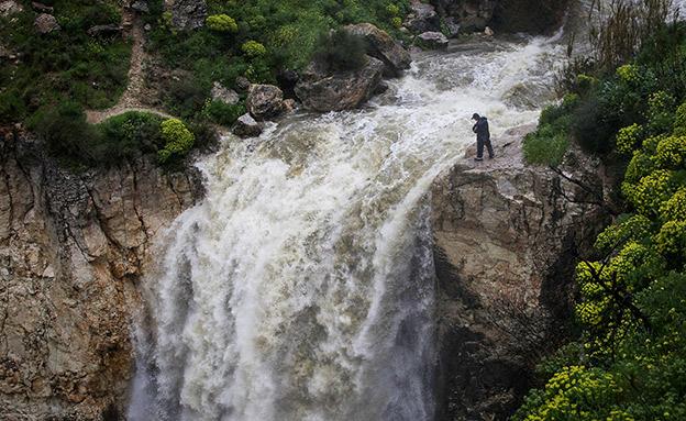 הזרימה בנחל אל על (צילום: מאור קינבורסקי, פלאש 90, חדשות)