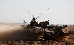 """צה""""ל הגיב בירי טנק. ארכיון (צילום: רויטרס, חדשות)"""