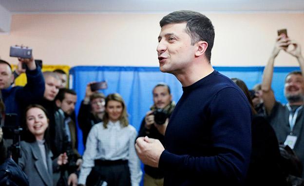 וולדימיר זלנסקי, מועמד לנשיאות אוקראינה (צילום: רויטרס, חדשות)