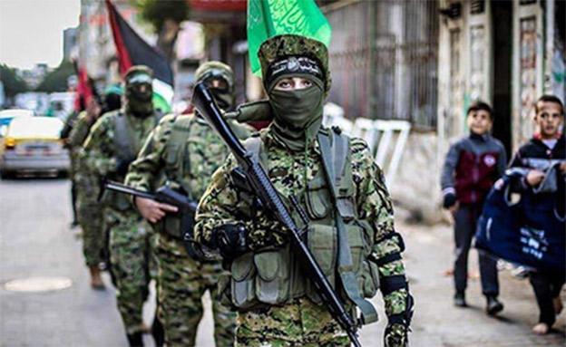 תהלוכה של חמאס בצפון הרצועה (צילום: חדשות)