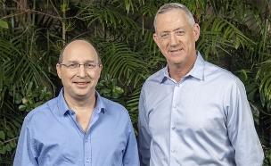 גנץ וניסנקורן בעת הצטרפותו למפלגה (צילום: ישראל הדרי, חדשות)