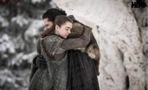 משחקי הכס עונה 8 פרק 1, ג'ון ואריה (צילום: Helen Sloan/HBO)