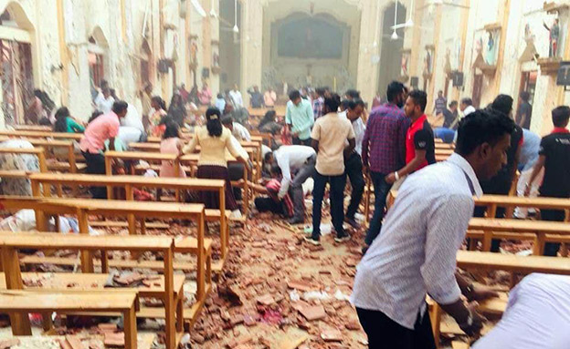 אחד מאתרי הפיגועים (צילום: טוויטר, חדשות)