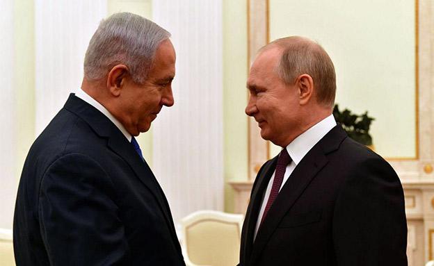 """פגישת פוטין-נתניהו, בתחילת החודש (צילום: קובי גדעון, לע""""מ, חדשות)"""