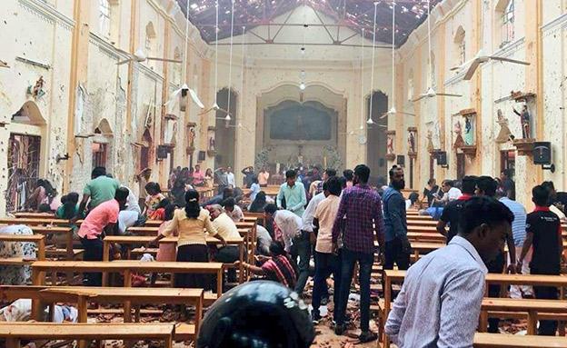 הכנסיה בה התפוצץ המחבל המתאבד (צילום: חדשות)