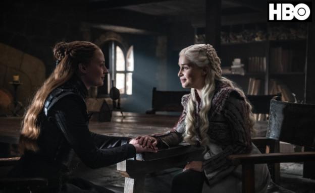 משחקי הכס עונה 8 פרק 2, דאינריז וסנסה (צילום: Helen Sloan/HBO)