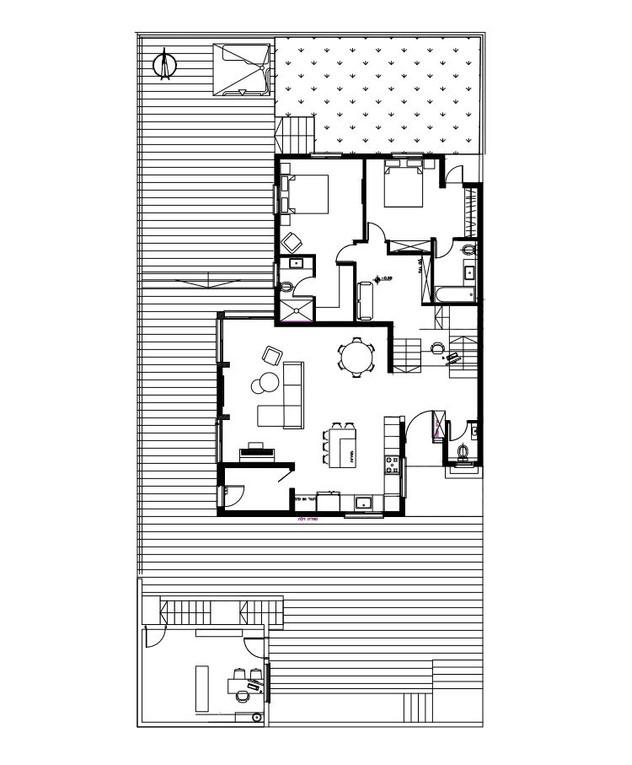 בית בנופית, ג, עיצוב שרון בן-משה, קומת כניסה אחרי