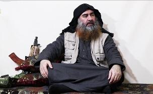אל-בגדאדי, מתוך התיעוד שפורסם היום (צילום: מתוך סרטון שפרסם דאעש, חדשות)