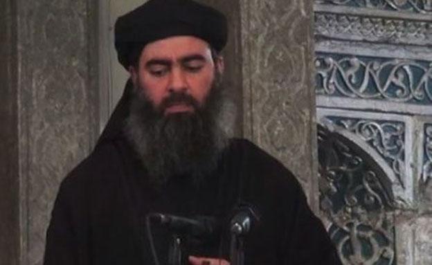 """מנהיג דאע""""ש כפי שתועד ב (צילום: חדשות)"""