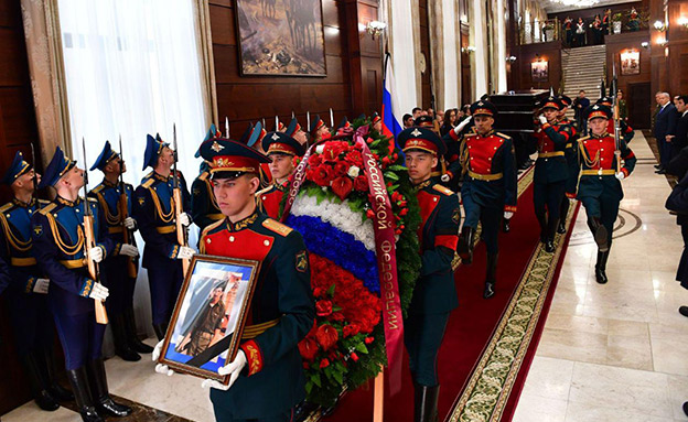 """טקס השבת חפציו של באומל במוסקבה (צילום: קובי גדעון, לע""""מ, חדשות)"""