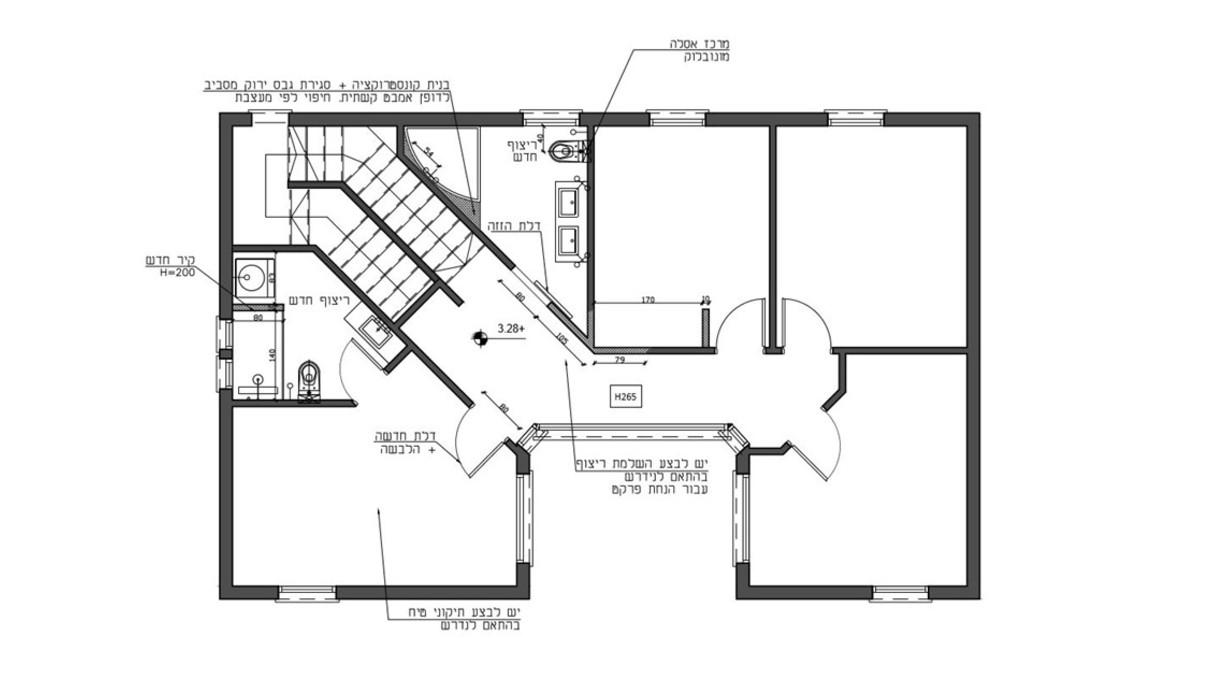 בית בשרון, עיצוב תמי שלוש, קומה עליונה