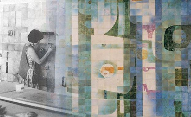 האמנית חוה קאופמן בפעולה במזנון הכנסת (צילום: רפרודוקציה: אטי אברהם, אתר הכנסת, חדשות)